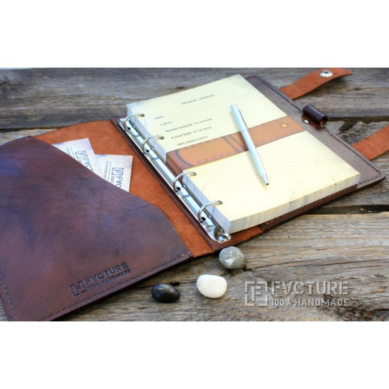 Кожаный блокнот со сменными блоками своими руками